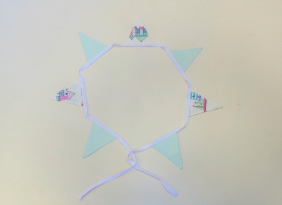 1 metre Mini Bunting set - Vintage style - set 5