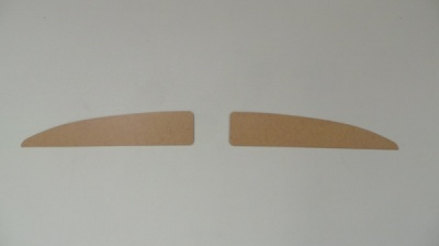 Split Screen Panel for behind Sun Visors - Plain