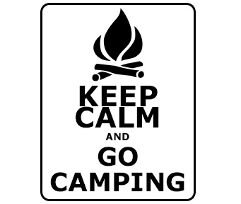Keep Calm and go camping VW graphic