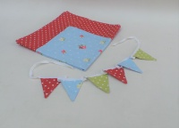 Tablecloth and bunting set - Red Dotty