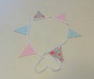 1 metre Mini Bunting set - Vintage style - set 9