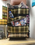 T25 / Late Bay Hanging seat storage - Westfalia Plaid