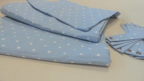 Bay Window 8 piece curtain set - Dotty - Powder Blue