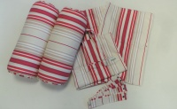 Bay Window 6 piece curtain set - Red Stripe