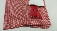 Split Screen 11 Window curtain set - Cherry Check - Rear set