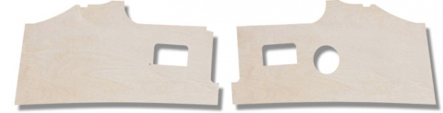 Bay Window Plywood kick Panels