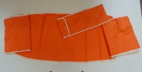 Bay Window  Screen Cover - Orange with ivory edge